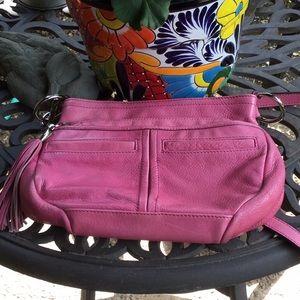 Pink B. Makowsky Leather Crossbody